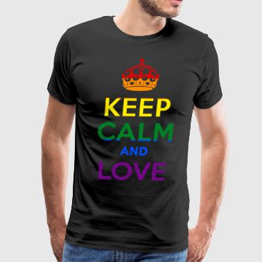Keep Calm and Love Rainbow - Men's Premium T-Shirt