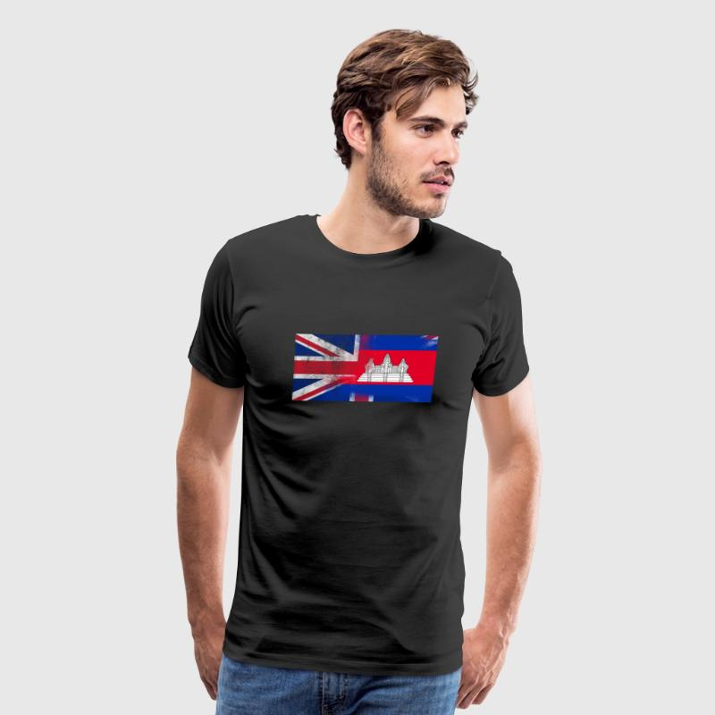 British Cambodian Half Cambodia Half UK Flag - Men's Premium T-Shirt