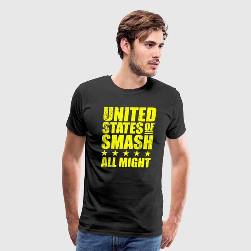 BNHA United States of Smash All Might Plus Ultra - Men's Premium T-Shirt