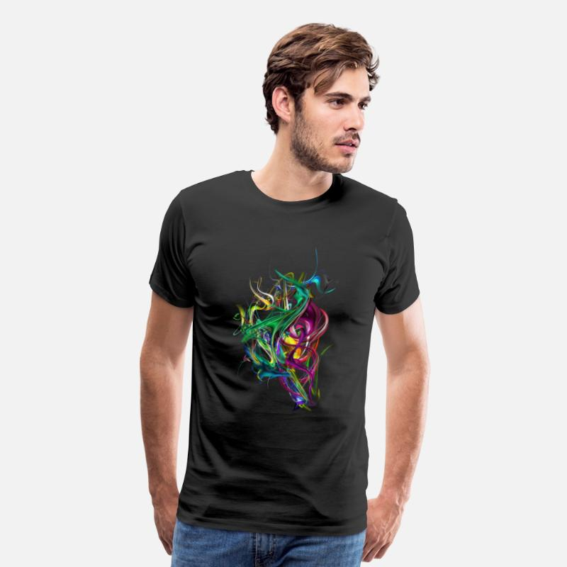 Full Color Abstract Shapes T-Shirts - Colorizer - Men's Premium T-Shirt black