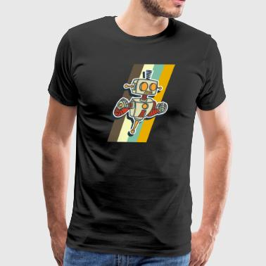 Angry Robot Vintage Robotics A.I Gift for Geeks - Men's Premium T-Shirt