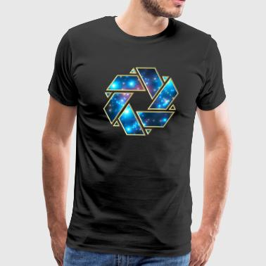 Double Mobius strip, crop circle, non-duality  - Men's Premium T-Shirt
