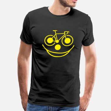 Bicycle Smiley Bicycle Smiley Face - Men's Premium T-Shirt
