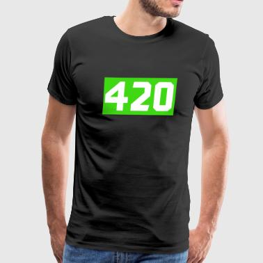420 Cannabis green - Men's Premium T-Shirt
