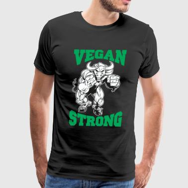 Vegan Strong Bull - Men's Premium T-Shirt