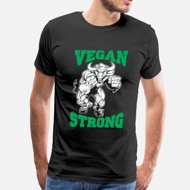 Vegan Strong Vegan Strong Bull - Men's Premium T-Shirt