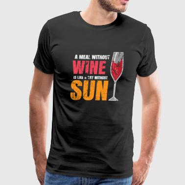 Drinking wine wine gift - Men's Premium T-Shirt