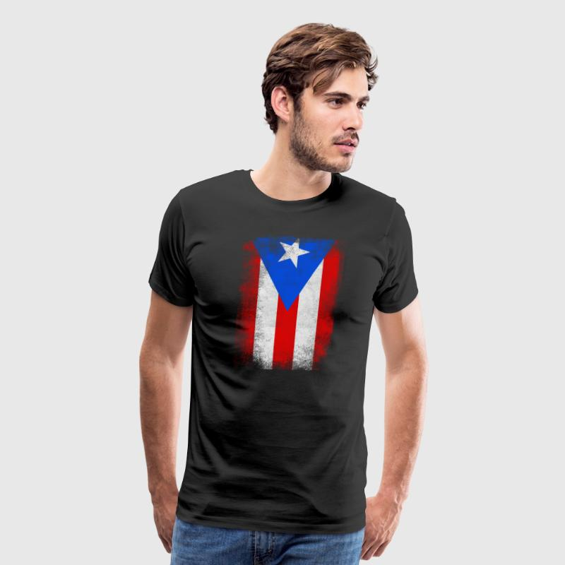 Puerto Rico State Flag Distressed Vintage Shirt - Men's Premium T-Shirt