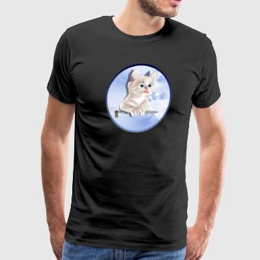 Sweet Pocket Kitten oval - Men's Premium T-Shirt