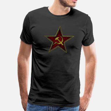 Russian Hammer  Hammer and sickle - Men's Premium T-Shirt