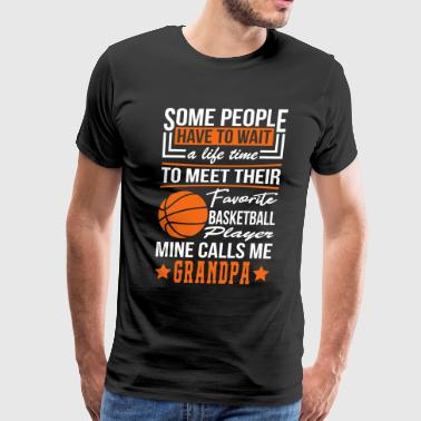 Some People Basketball Player Grandpa - Men's Premium T-Shirt