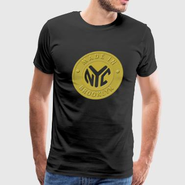 Brooklyn Subway Token - Men's Premium T-Shirt