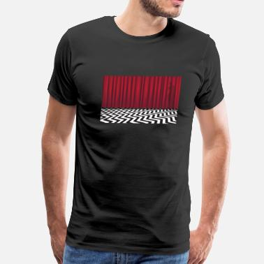 Twin Peaks Black Lodge Red Room - Men's Premium T-Shirt