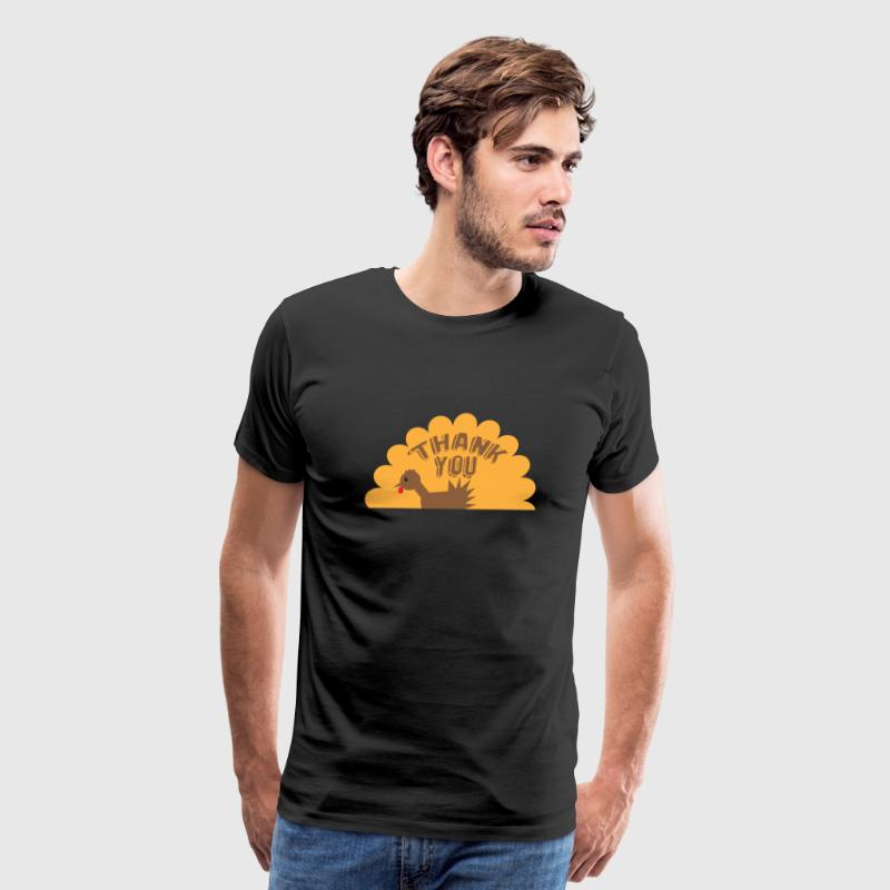 Thank you thanksgiving cute turkey - Men's Premium T-Shirt