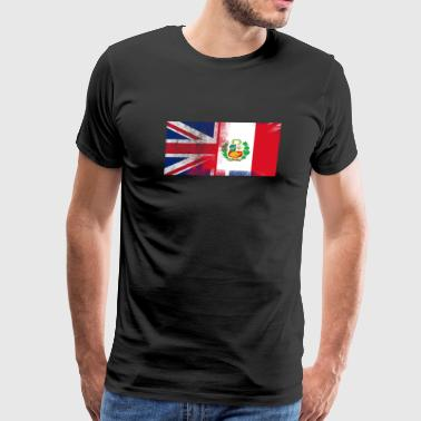 British Peruvian Half Peru Half UK Flag - Men's Premium T-Shirt