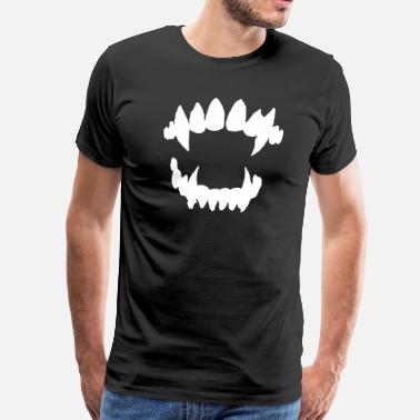 Vampire-teeth Halloween Vampire - Vampire teeth - Men's Premium T-Shirt