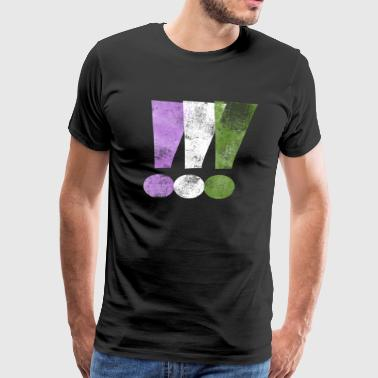 Exclamation Mark Genderqueer Pride Exclamation Points - Men's Premium T-Shirt