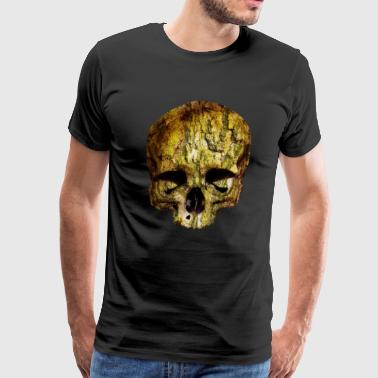 skull / Skull Tree Bark - Men's Premium T-Shirt