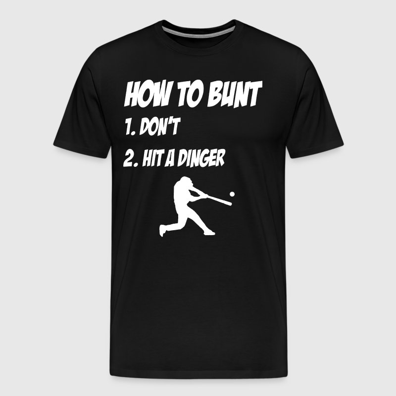 baseball how to bunt - Men's Premium T-Shirt