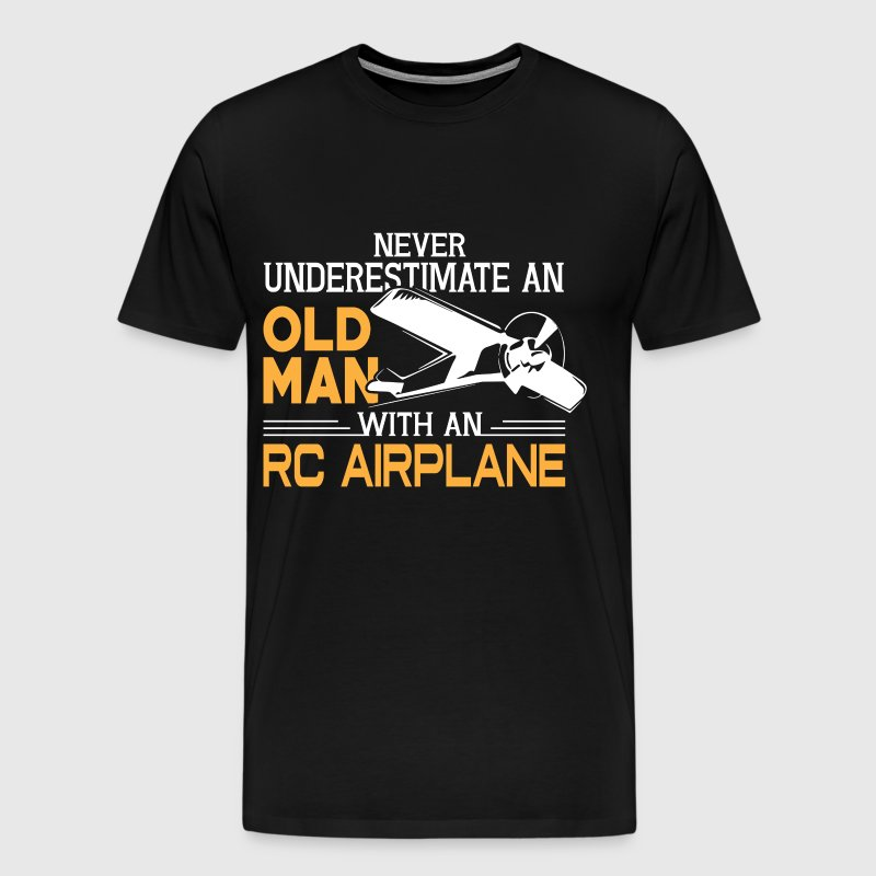 Old Man With An RC Airplane T Shirt - Men's Premium T-Shirt