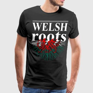 Welsh Roots Tshirt - Men's Premium T-Shirt