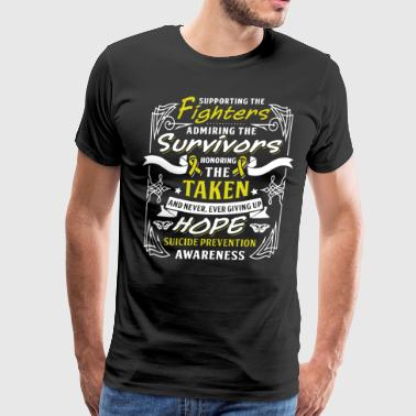 supporting the fighters admiring the survivors hon - Men's Premium T-Shirt