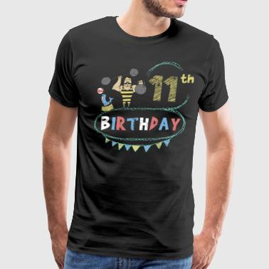 Carnival Theme Strongman 11th Birthday - Men's Premium T-Shirt