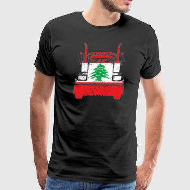 Lebanese Trucker Shirt Lebanon Flag Long Haul Trucker - Men's Premium T-Shirt