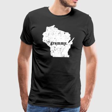 Funny Wisconsin Grammy Wisconsin Grandmother - Men's Premium T-Shirt