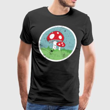 Mushrooms Roller Derby Roller Skating - Men's Premium T-Shirt