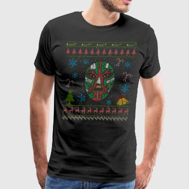 Mexican Wrestler Christmas Ugly Shirt Mexican Wrestling - Men's Premium T-Shirt