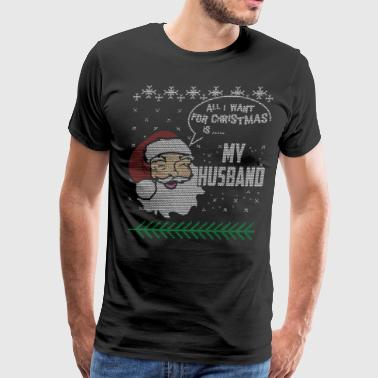 Husband And Wife Christmas Shirts Love My Husband - Men's Premium T-Shirt