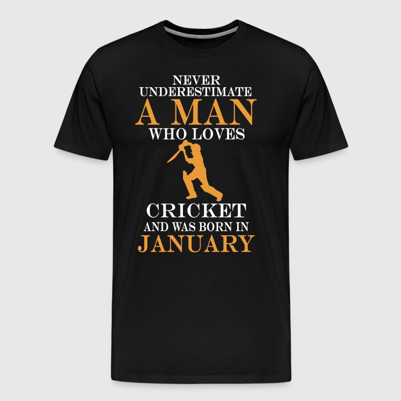 Never underestimate a man who loves cricket and wa - Men's Premium T-Shirt