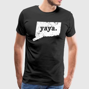 Best Yaya Connecticut Grandmother - Men's Premium T-Shirt