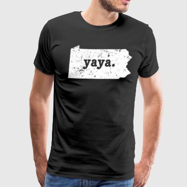 Best Yaya Pennsylvania Grandmother - Men's Premium T-Shirt