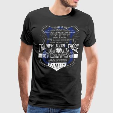Support Law Enforcement Police Officer Prayer Police Support Saint Michael Police - Men's Premium T-Shirt
