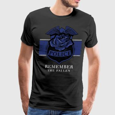 Police Heroes Police Memorial Remember The Fallen - Men's Premium T-Shirt