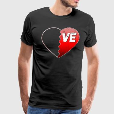 Valentine Couple Love VE Valentines Day Gifts For Couples - Men's Premium T-Shirt