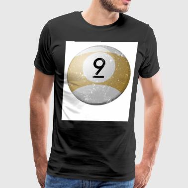 Personalized Billiard Balls 9 Large Billiard Balls - Men's Premium T-Shirt
