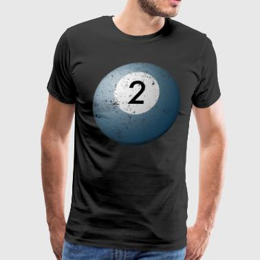 Billiard Pool Balls 2 Customized Billiards Balls - Men's Premium T-Shirt