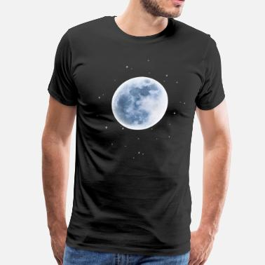 Glow In The Dark Moon Full Blue Moon - Men's Premium T-Shirt