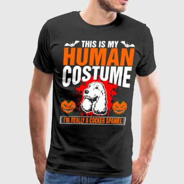 31st October This Is My Human Costume  A Cocker Spaniel - Men's Premium T-Shirt