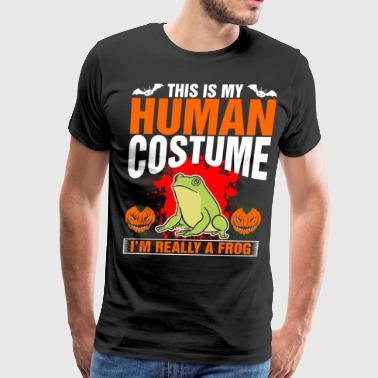 This Is My Human Costume A Frog - Men's Premium T-Shirt