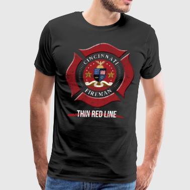 Cincinnati Ohio Shirt Firefighter Shirt Volunteer Firefighter - Men's Premium T-Shirt