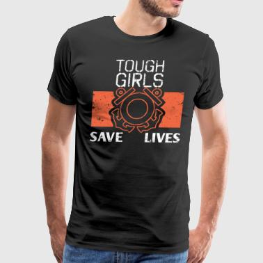 Tough Girls Save Lives Coast Guard Girl Shirt - Men's Premium T-Shirt