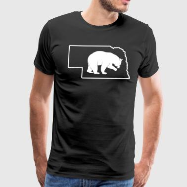 Hunting Trophy Black Bear Nebraska Hunting Bow Bear Shirt - Men's Premium T-Shirt