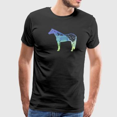 Horse Water Color Appaloosa Horses In Water Color - Men's Premium T-Shirt