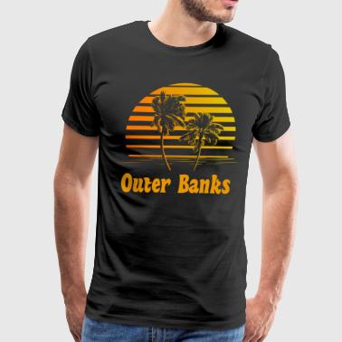 Outer Banks North Carolina Sunset Palm Trees - Men's Premium T-Shirt