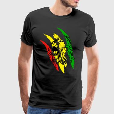 Lion Of Judah - Reggae Music Rastafari Rasta Gift - Men's Premium T-Shirt