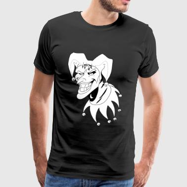 Jester Black and White - Men's Premium T-Shirt